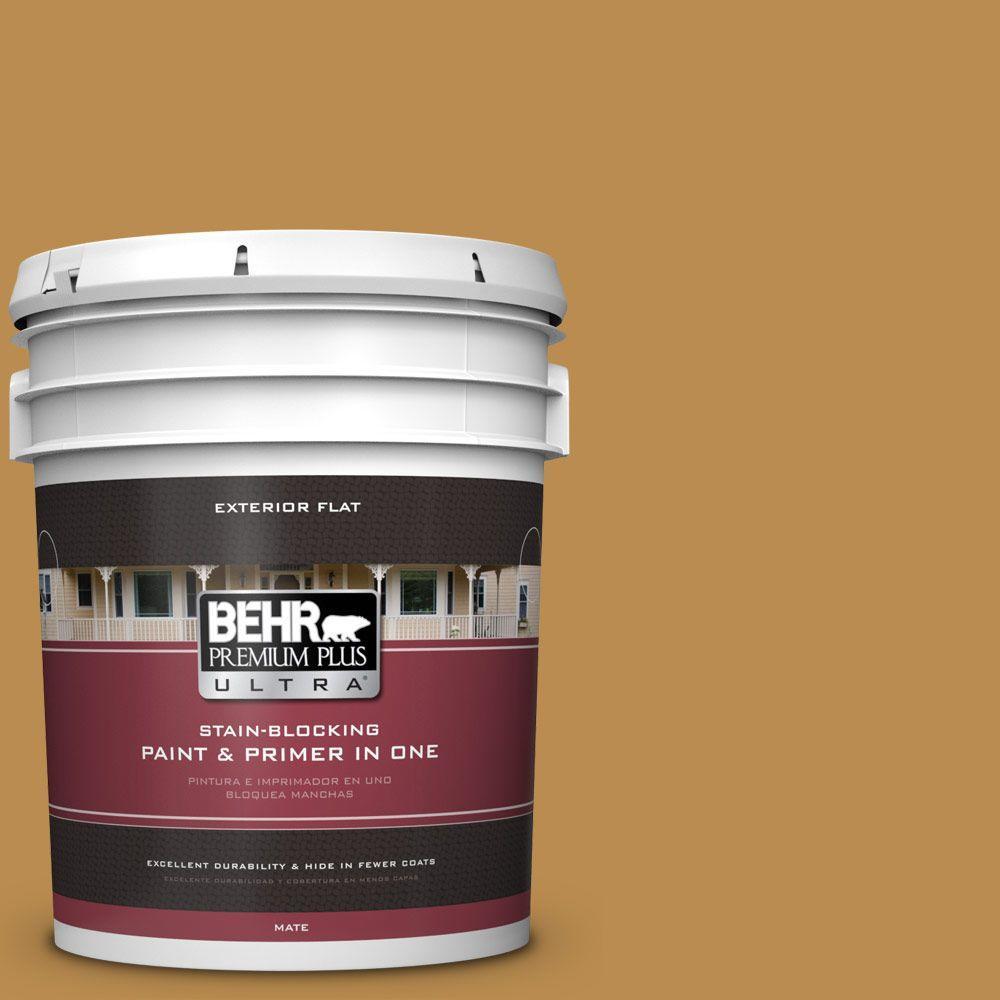 BEHR Premium Plus Ultra 5-gal. #320D-6 Lion Mane Flat Exterior Paint
