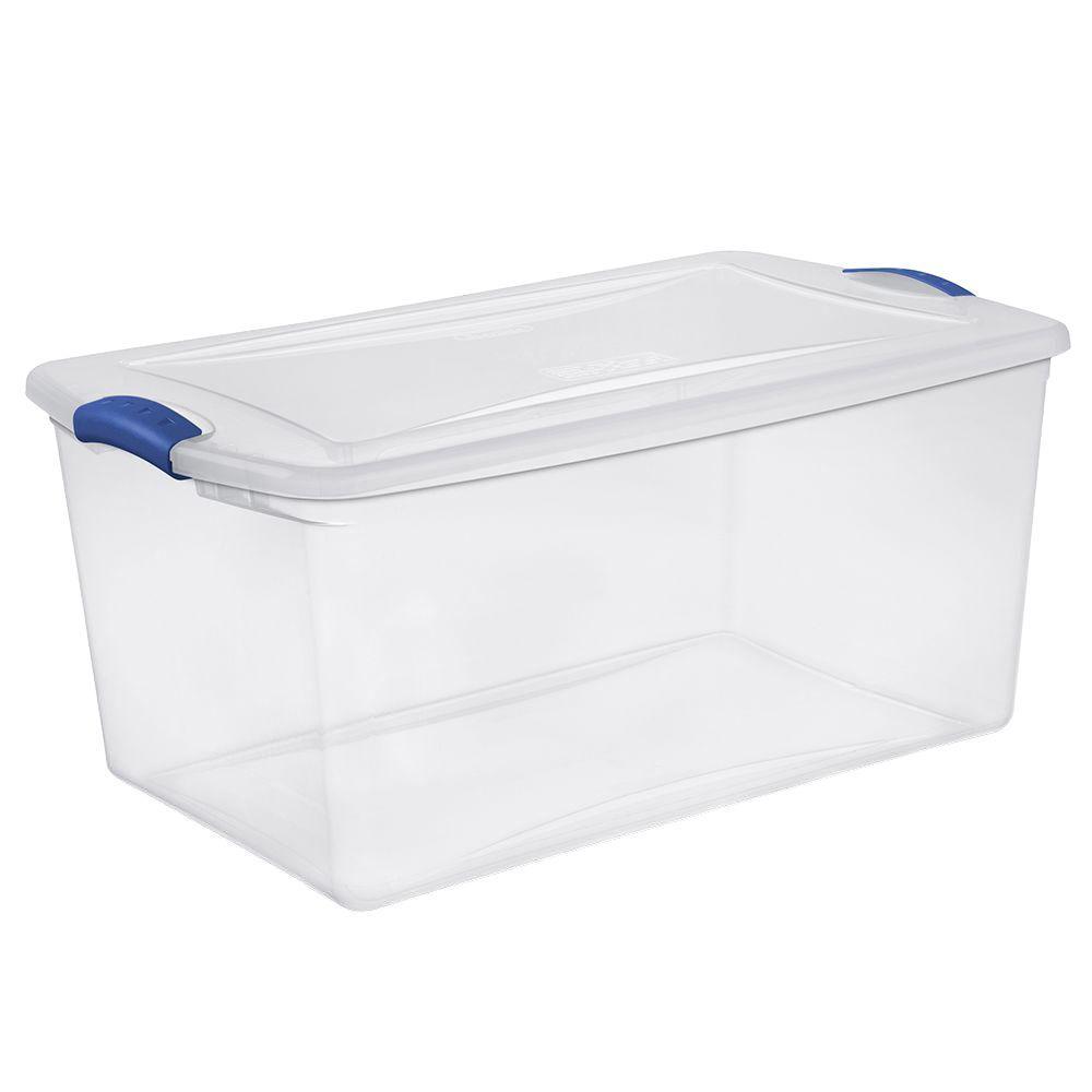 66 Qt. Latch Storage Box (6-Pack)