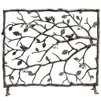 Bird and Branch 1-Panel Firescreen