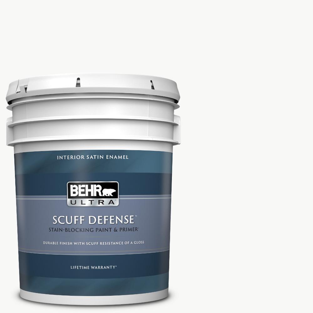 5 gal. Ultra Pure White Extra Durable Satin Enamel Interior Paint & Primer