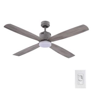 Kitteridge 52 in. LED Indoor Greywood Ceiling Fan with Light Kit