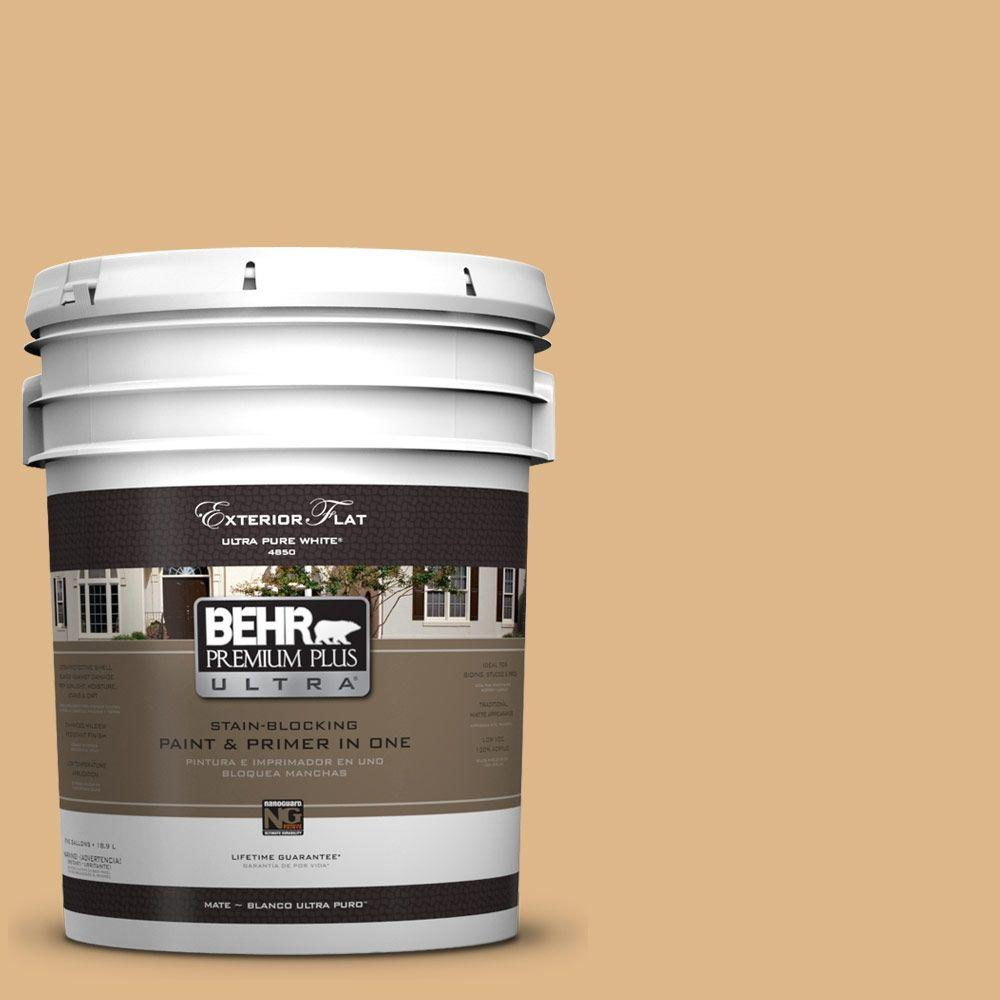 BEHR Premium Plus Ultra 5-gal. #UL150-4 Fortune Cookie Flat Exterior Paint