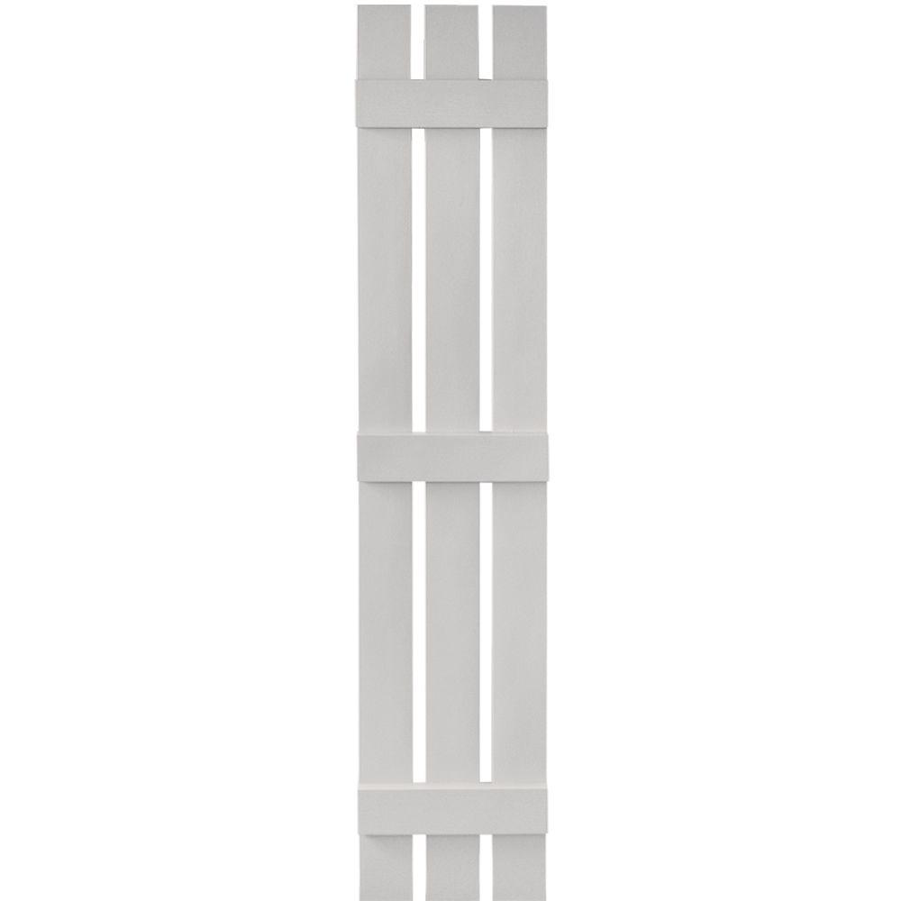 12 in. x 67 in. Board-N-Batten Shutters Pair, 3 Boards Spaced