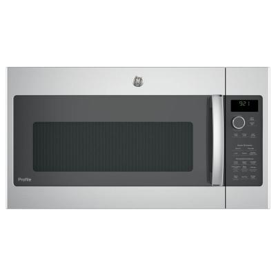 Profile 2.1 cu. ft. Over the Range Microwave with Sensor Cooking in Stainless Steel