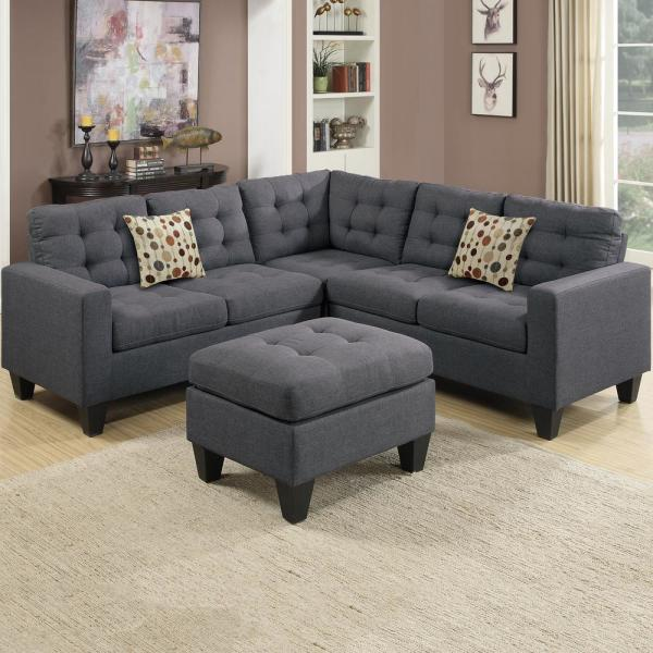 Blue Gray Sectional Sofa