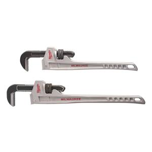 18 in. and 24 in. Aluminum Pipe Wrench Set (2-Tool)
