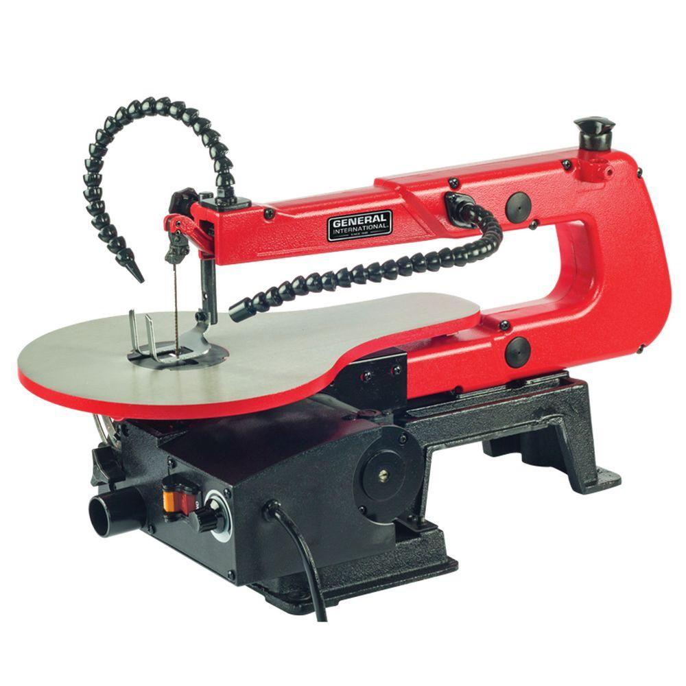 General international 12 amp 16 in variable speed scroll saw with general international 12 amp 16 in variable speed scroll saw with flex shaft led work keyboard keysfo