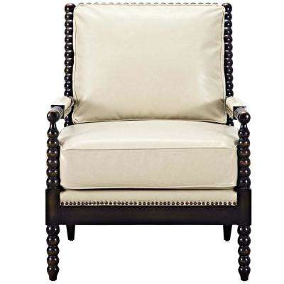 Revel Cream Upholstered Vinyl Armchair