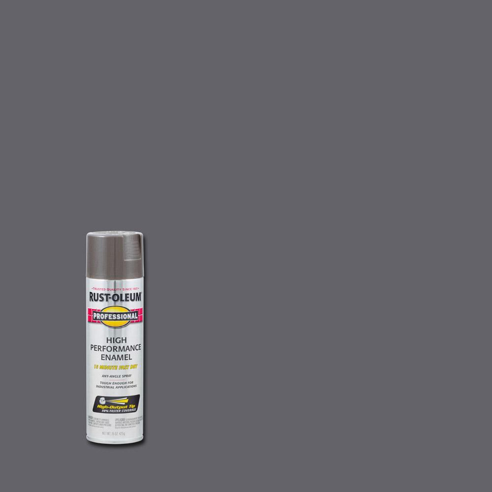 Rust-Oleum Professional 15 oz. High Performance Enamel Gloss Dark Machine Gray Spray Paint