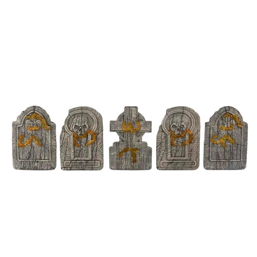 24 in. Graveyard Tombstones (Set of 5)