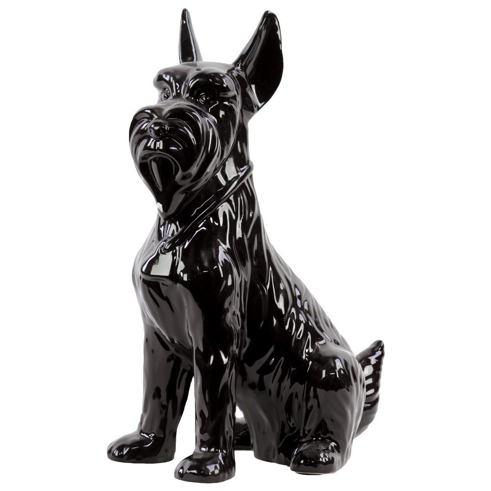 13.00 in. H Figurine Decorative Sculpture in Black Gloss