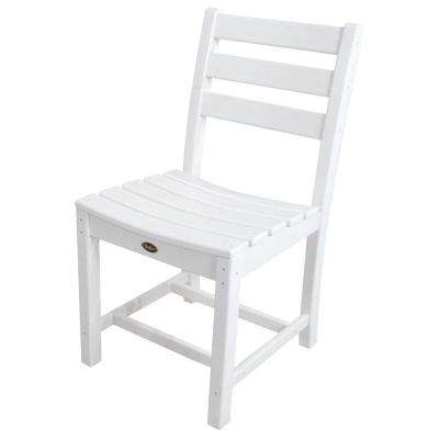 Monterey Bay Classic White Patio Dining Side Chair