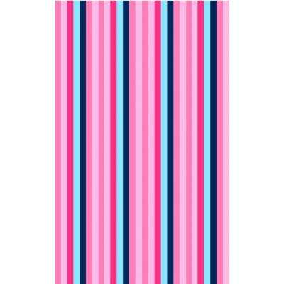 Fun Time Bloomin.g Pink Multi Colored 3 ft. x 5 ft. Area Rug