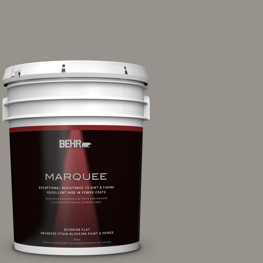BEHR MARQUEE 5-gal. #PPU18-16 Elephant Skin Flat Exterior Paint