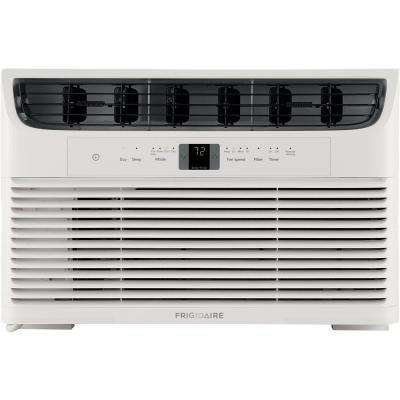 6,000 BTU Window-Mounted Room Air Conditioner in White