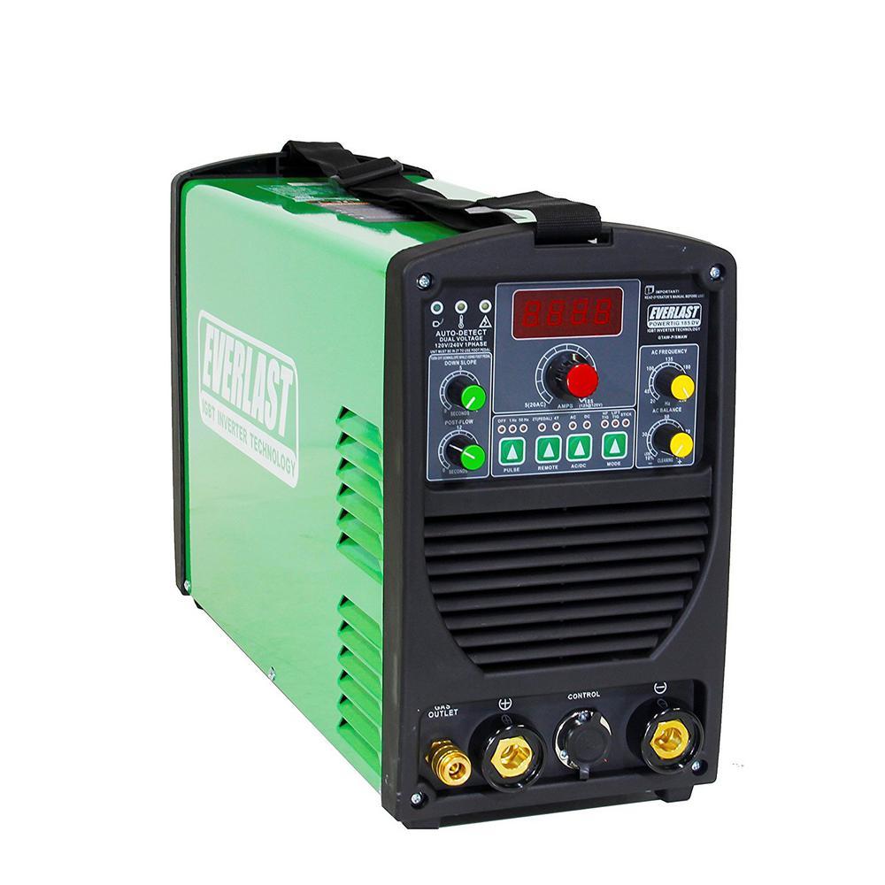 185 Amp PowerTIG 185DV IGBT Digital Inverter AC/DC Stick/TIG Welder with High Frequency and Lift TIG Start, 120V/240V