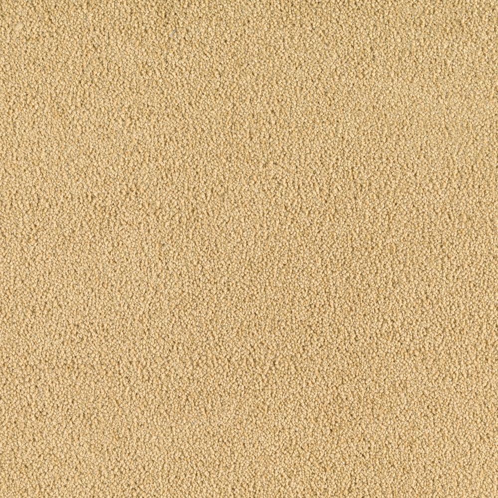 SoftSpring Cashmere II - Color Golden Sun Texture 12 ft. Carpet