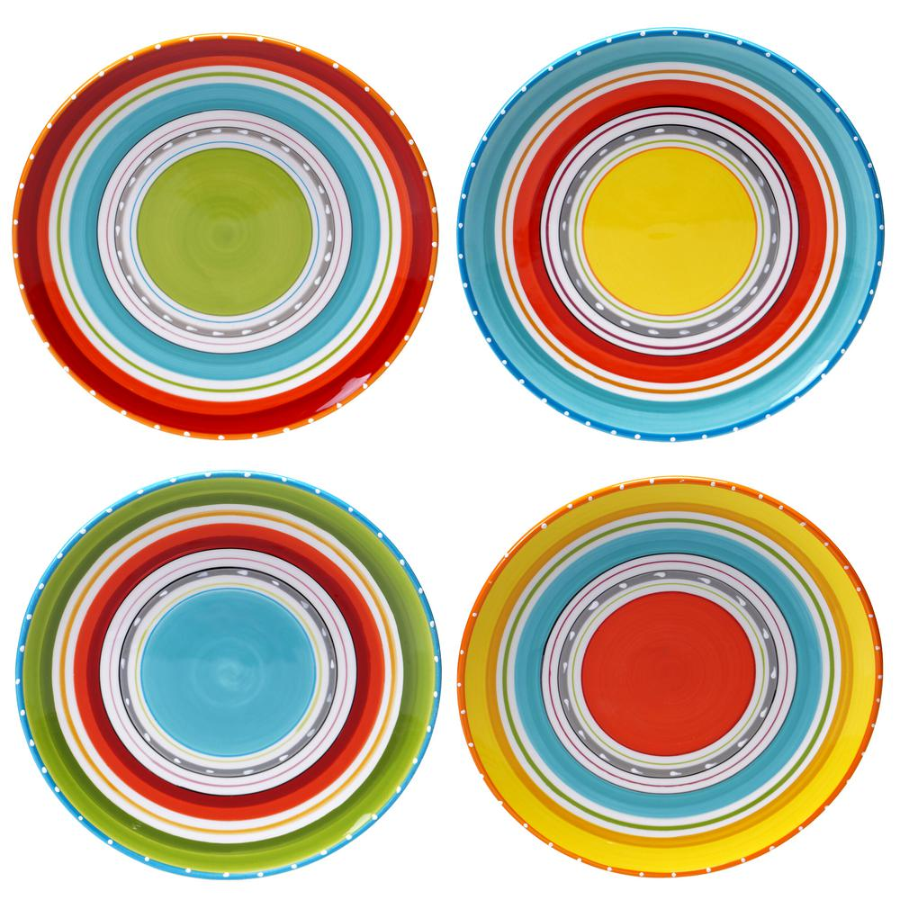 Certified International Mariachi Multi-Colored Dinner 10.75 in. Plate Set (Set of 4  sc 1 st  The Home Depot & Certified International Mariachi Multi-Colored Dinner 10.75 in ...