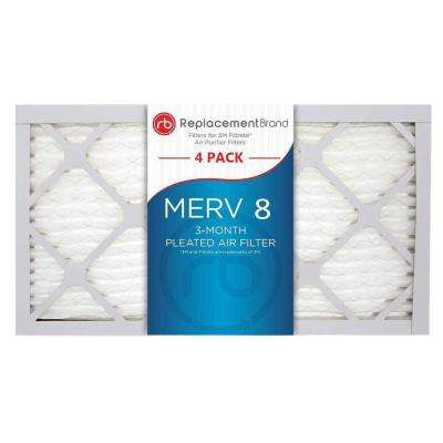 11 in. x 22 in. x 1 in. MERV 8 Air Purifier Replacement Filter (4-Pack)