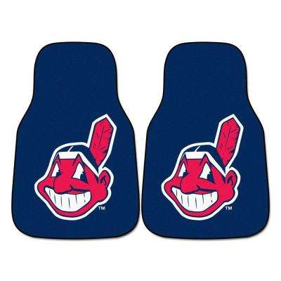 Cleveland Indians 18 in. x 27 in. 2-Piece Carpeted Car Mat Set