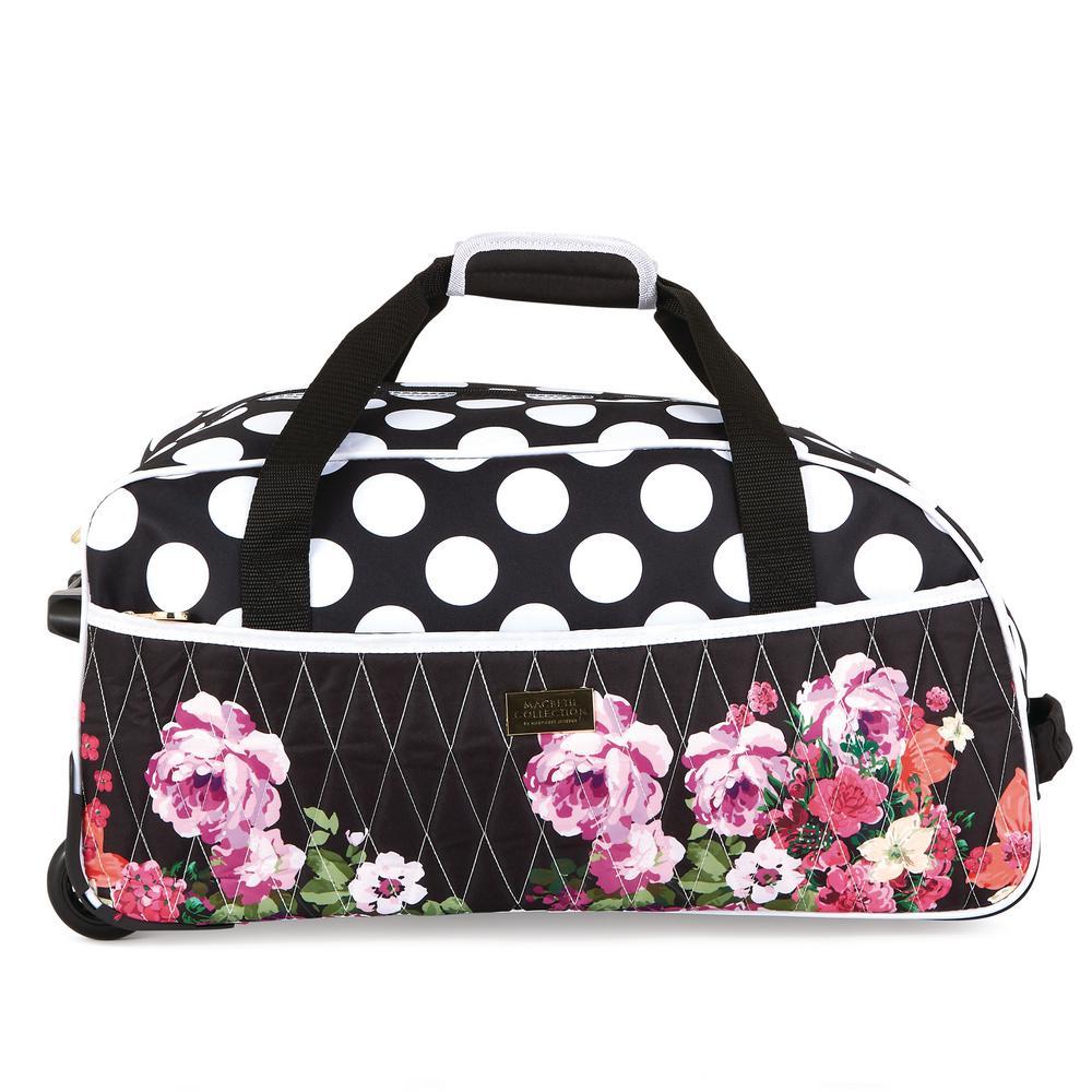 Giuliana 21.5 in. Black Rolling Duffel Bag