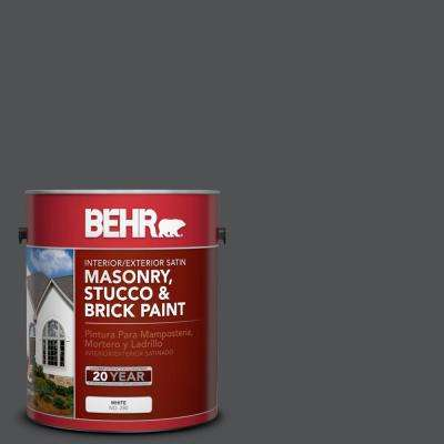 1 gal. #BXC-30 Black Space Satin Interior/Exterior Masonry, Stucco and Brick Paint