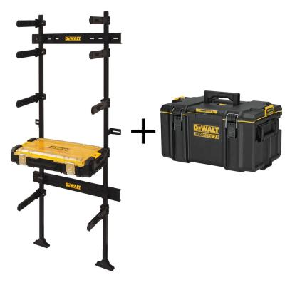 TOUGHSYSTEM 25-1/2 in. Workshop Racking Storage System and Small Parts Organizer with Bonus TOUGHSYSTEM Medium Tool Box