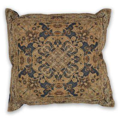 Navy/Gold Artesia 18 in. x 18 in. Decorative Pillow
