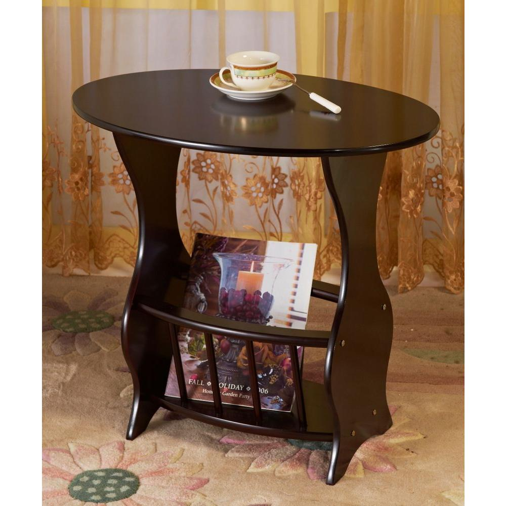 Frenchi Home Furnishing Cherry Storage End Table