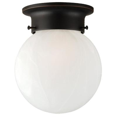 Millbridge 1-Light Oil Rubbed Bronze Ceiling Semi Flush Mount Light Fixture