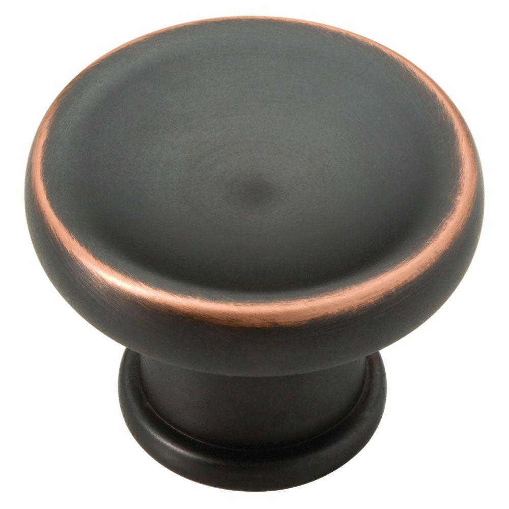 Liberty Mayfield 1-3/16 in. Bronze With Copper Highlights Cabinet Knob-DISCONTINUED