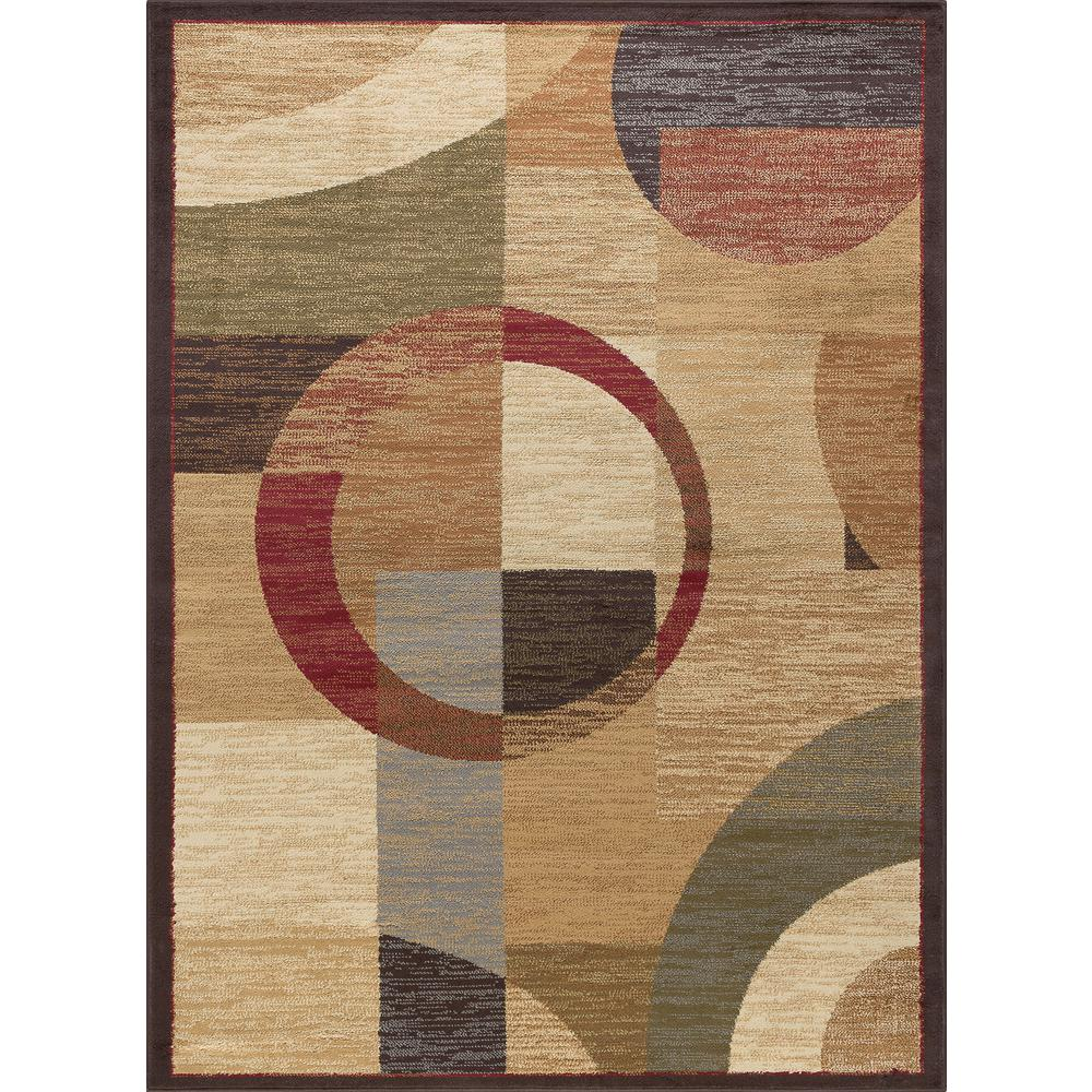Modern Rugs 8 X 10: Tayse Rugs Elegance Multi 8 Ft. X 10 Ft. Contemporary Area