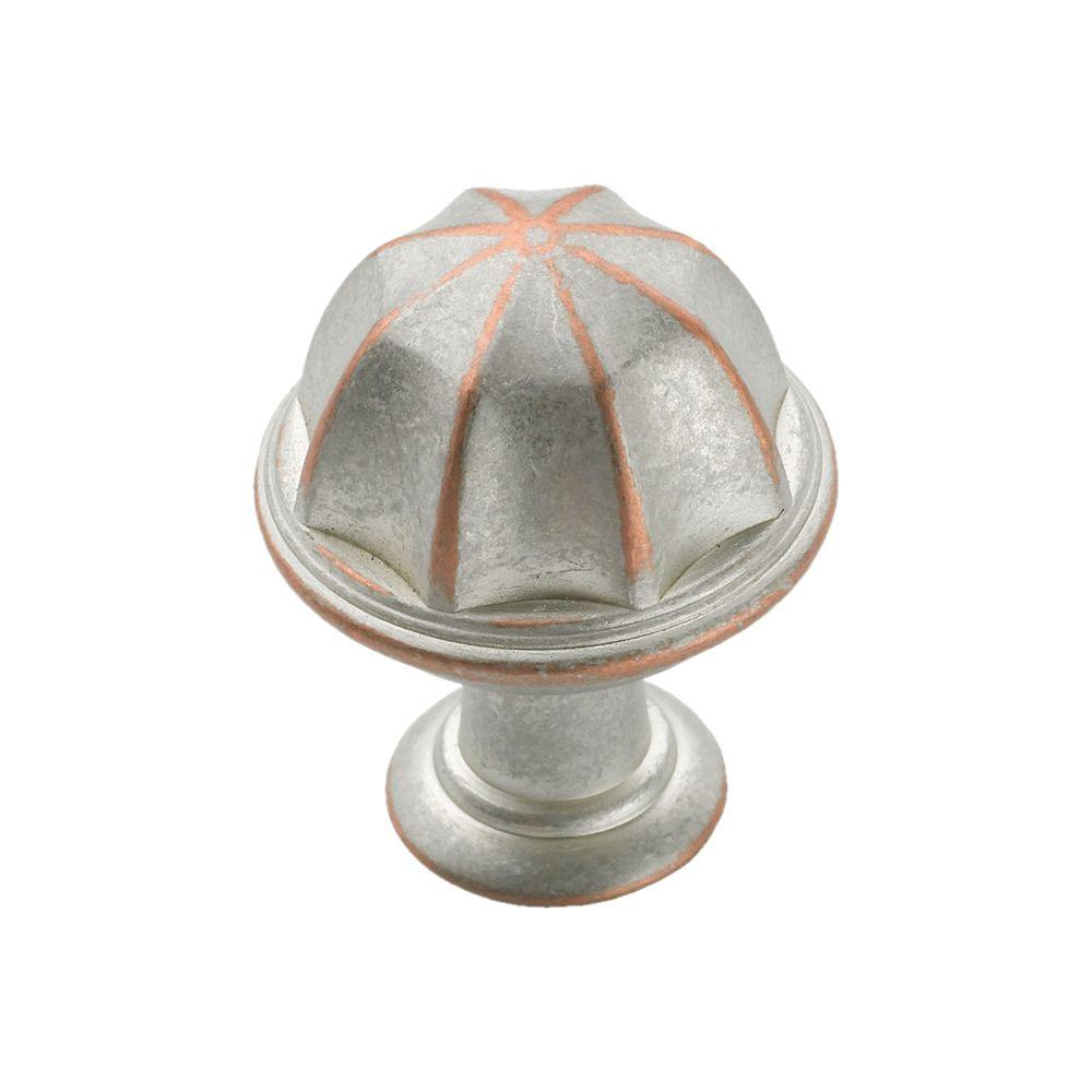 Genial Weathered Nickel Copper Cabinet Knob