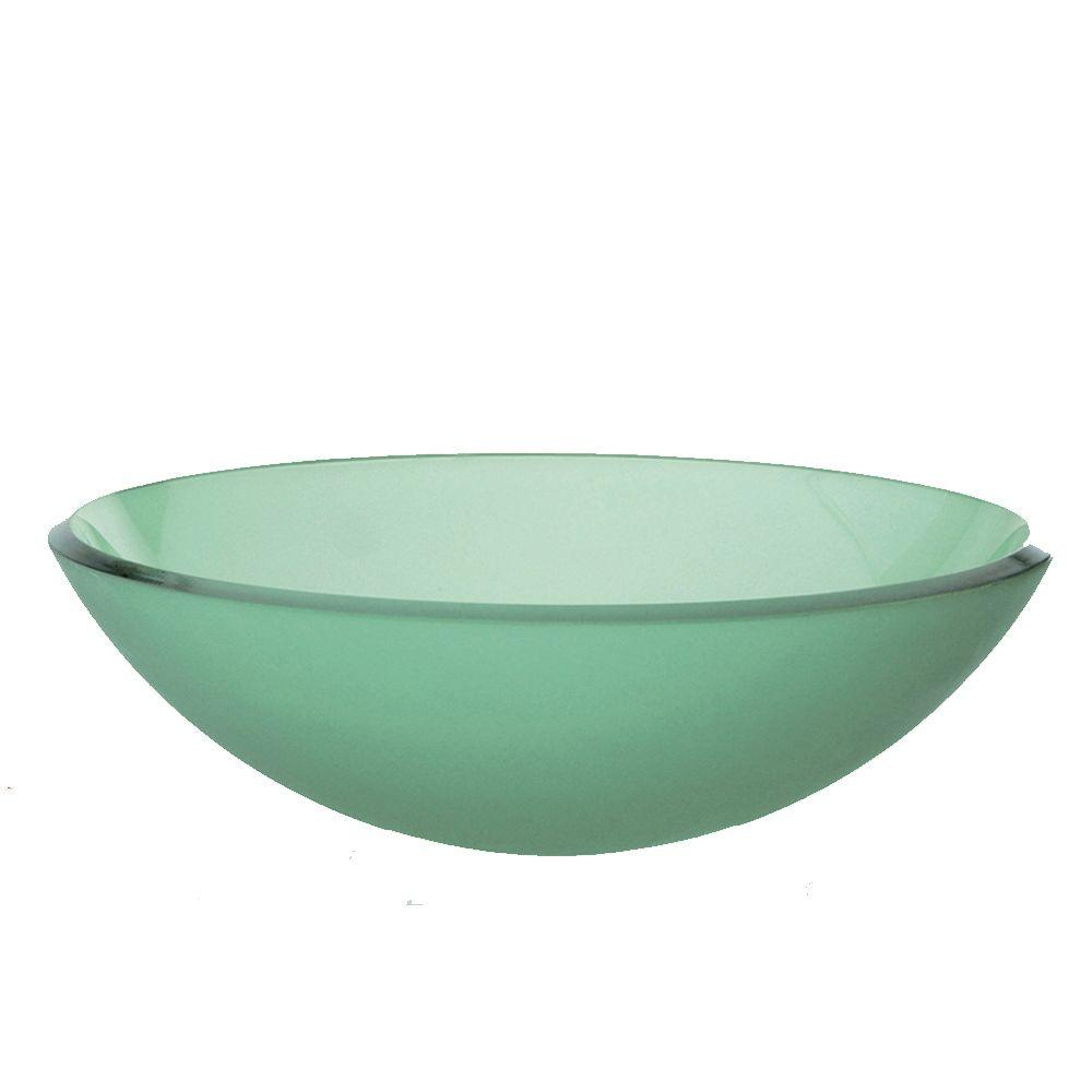 DECOLAV Translucence Vessel Sink in Frosted Green-DISCONTINUED