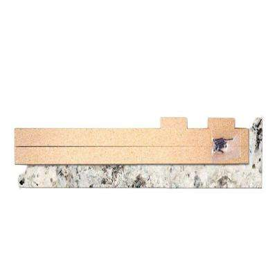 4-5/8 in. x 25-5/8 in. Laminate Endcap Kit in Typhoon Ice with Valencia Edge