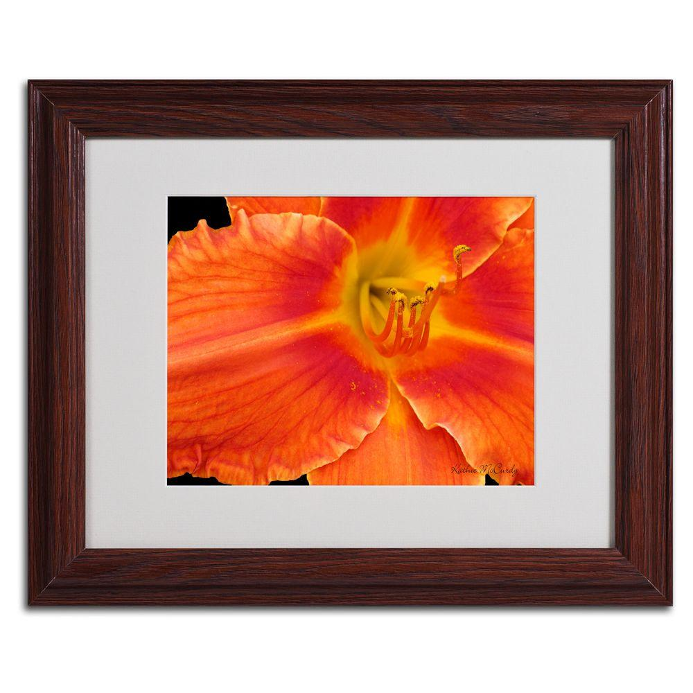 null 11 in. x 14 in. Orange Day Lily Matted Framed Art