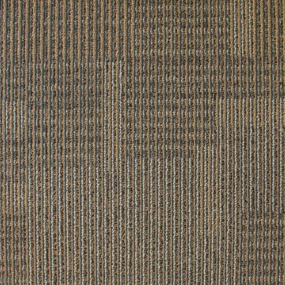 EuroTile Park Avenue Acorn Loop 19.7 in. x 19.7 in. Carpet Tile (20 Piece/Case)
