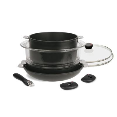 Cookway 9-Piece Gray Cookware Set with Lids