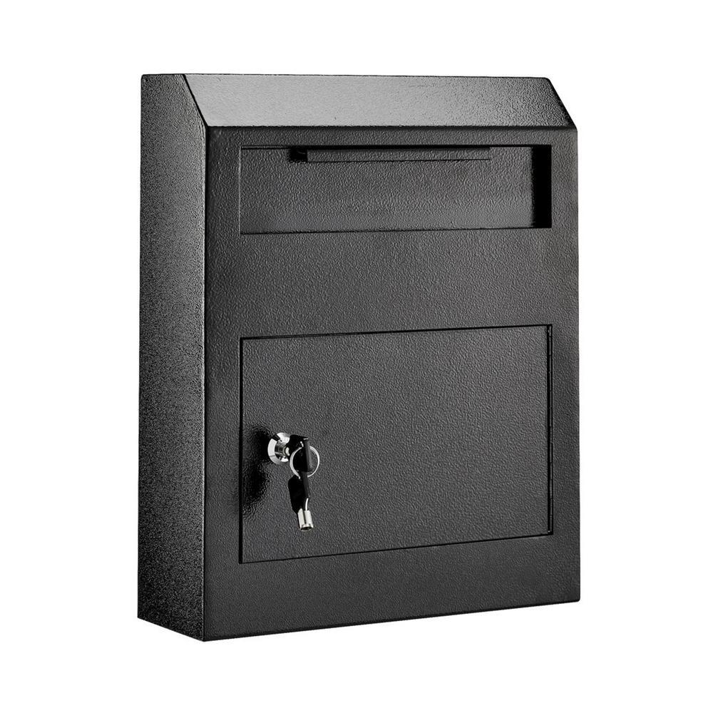 AdirOffice Black Heavy-Duty Secured Safe Drop Box