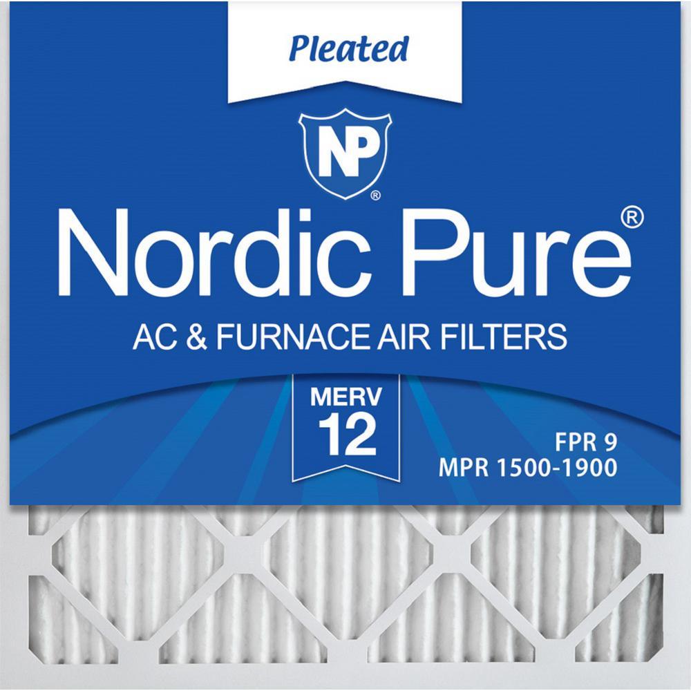 20  x 20  x 1  Allergen Pleated MERV 12 - FPR 9 Air Filter (12-Pack)