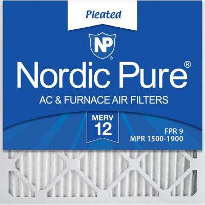 20 in. x 20 in. x 1 in. Allergen Pleated MERV 12 - FPR 9 Air Filter (12-Pack)