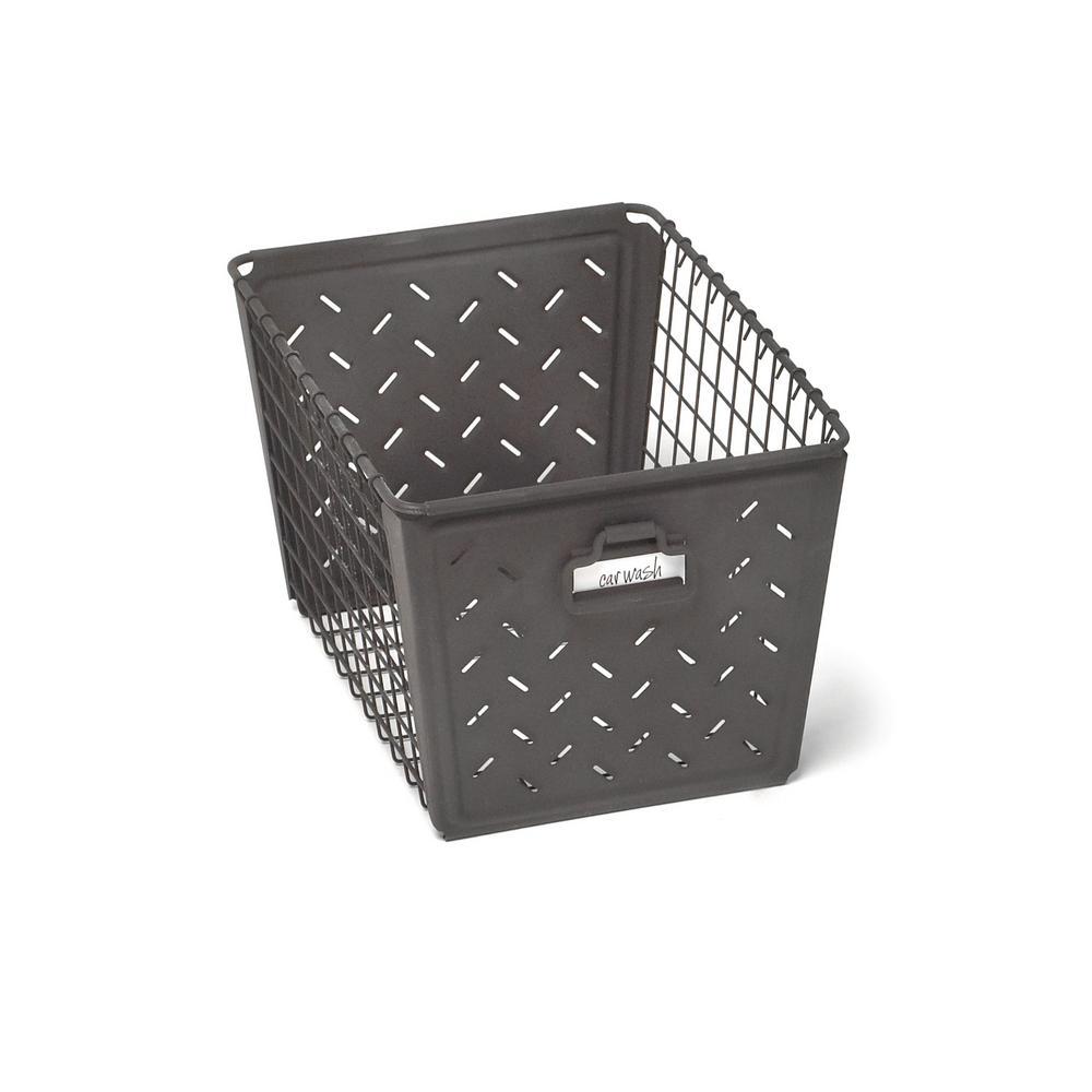 Macklin Medium Metal Basket in Industrial Gray