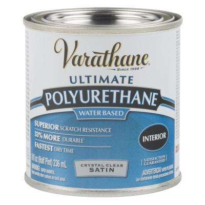 8 oz. Clear Satin Water-Based Interior Polyurethane