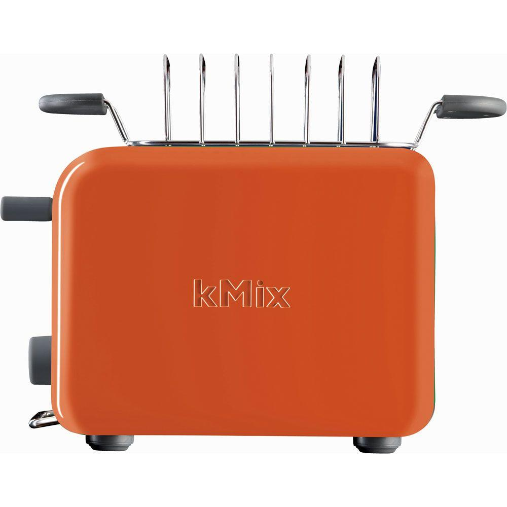 DeLonghi kMix 2-Slice Toaster with Bun Warmer in Orange-DISCONTINUED