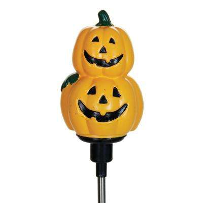 30 in. Solar Rotating Pumpkins Stake