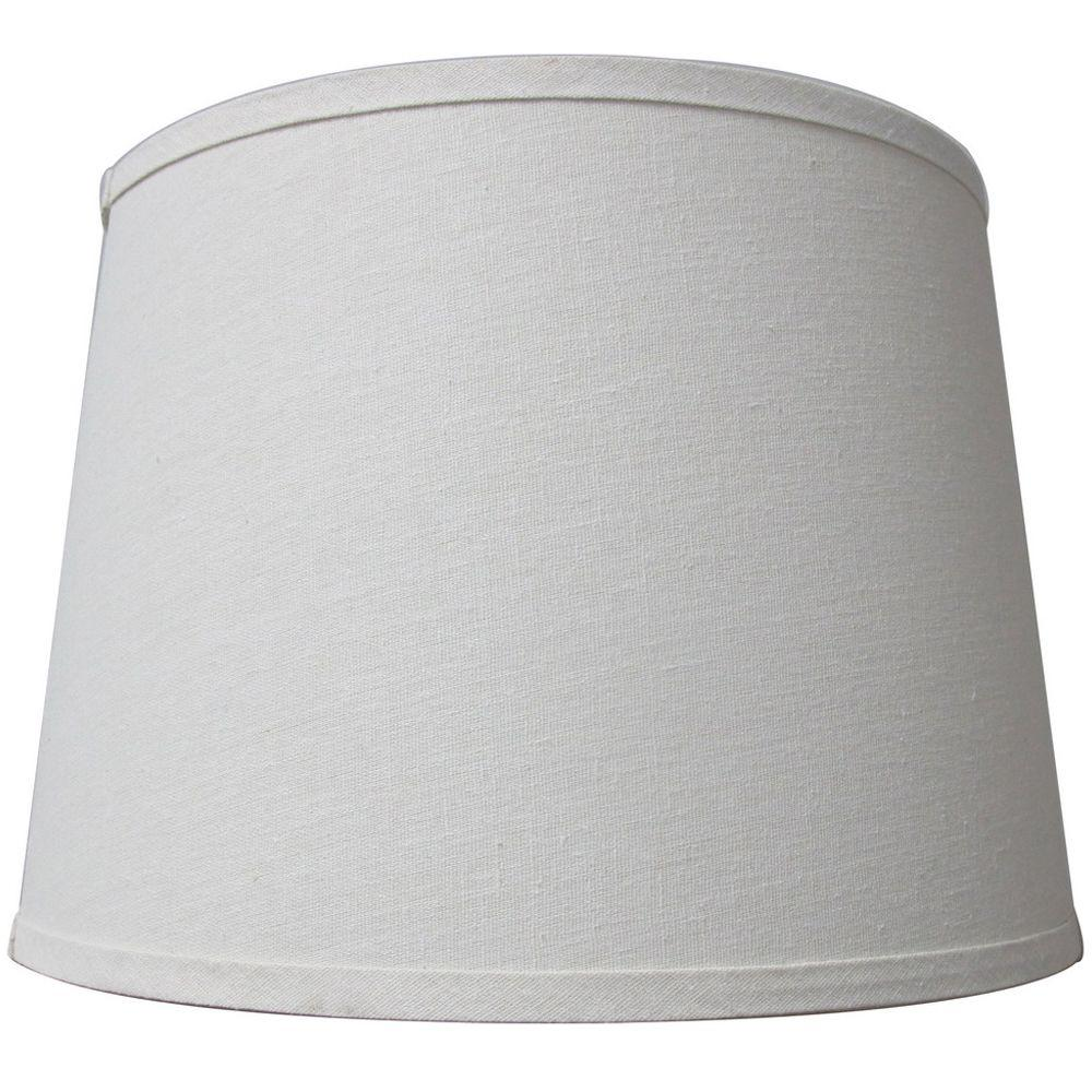 Hampton Bay Mix Match Ivory Drum Table Shade 15362 The Home Depot