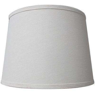 Lamp shades lamps the home depot mix match ivory drum table shade aloadofball Image collections