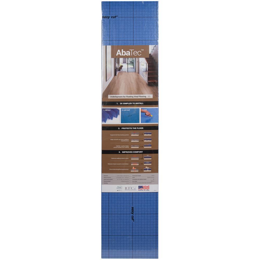 Abatec 3.9 ft. x 25.7 ft. x 1mm Premium Underlayment for Rigid Click Luxury Vinyl Flooring (100 sq. ft.)