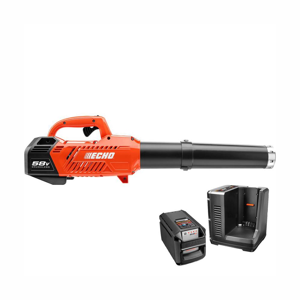 ECHO ECHO 145 MPH 550 CFM Variable-Speed Turbo 58-Volt Brushless Lithium-Ion Cordless Blower 2.0 Ah Battery and Charger Included