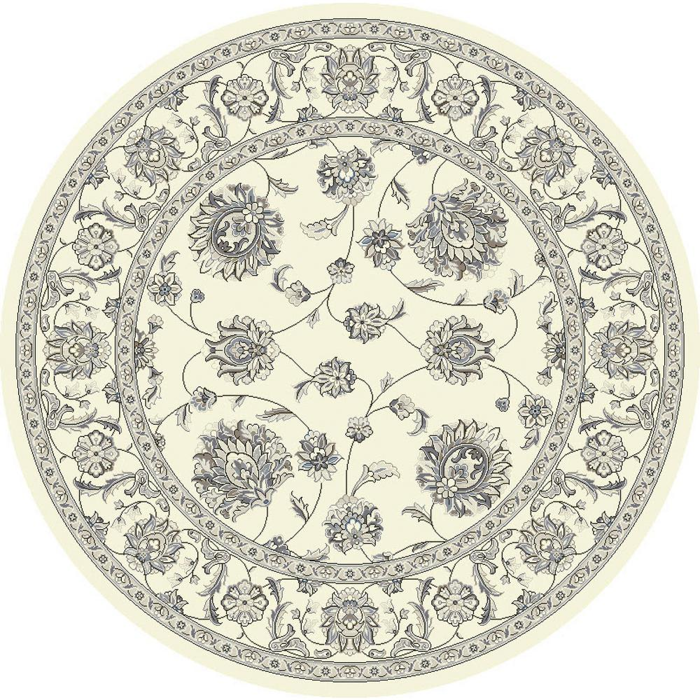 Ancient Garden Cream 8 ft. Round Area Rug